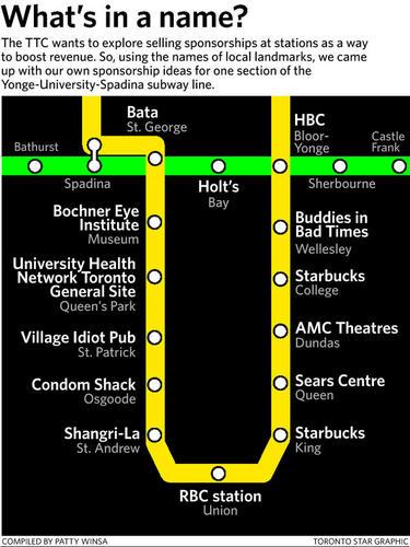 TTC Sponsor Map by Patty Winsa for Toronto Star