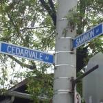 Cedarvale Ave - Sammon Ave Signs