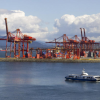 The Vancouver port is seen in this file photo. Statistics Canada said Aug. 31, 2011 that exports of goods and services fell 2.1 per cent in the second quarter, the first decline since the third quarter of 2010.