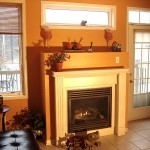 Gas Fireplace in Kitchen