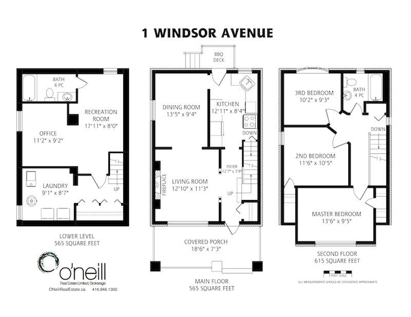 Sold 1 windsor avenue toronto detached house o 39 neill for Toronto house plans