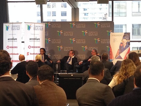 Panel Discussion at Toronto Board of Trade